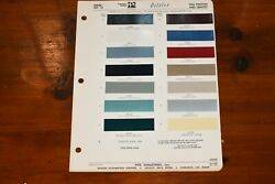1966 Pontiac And Tempest Ditzler Ppg Paint Chip Sheet Book Page Index No. 15