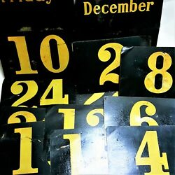 18 Antique General Store Five And Dime Advertising Display Rack Number Tin Signs