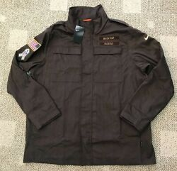 Nike Menand039s Salute To Service Canvas Military Jacket Nfl Green Bay Packers Size S