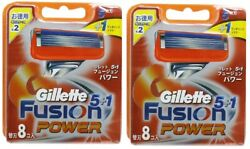 2 Packs Of Great Valueandgt Gillette Fusion 5 + 1 Power Spare Blade 8 Pieces