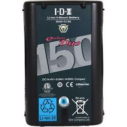 Idx Duo-c150 14.4v 143wh V-mount Battery With Vl-4se 4-port Charger Duo-c150 B
