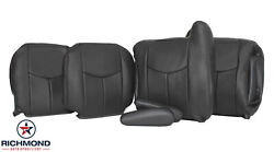2004 Gmc Sierra Slt - Driver And Passenger Complete Leather Seat Covers Dark Gray