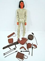 Vintage Marx Best Of The West Germonimo Action Figure And Accessories