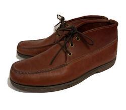 Menand039s Gokey Company Chukka Ankle Leather Boots Moccasins Shoes Sz 11.5 D Brown