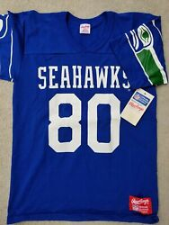 Nwt Vintage Rawlings Made In Usa Seattle Seahawks Jersey Shirt Cotton/poly M