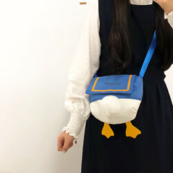 Cute Cartoon Little Shoulder Bag Kawaii Crossbody Girls Round Phone Bag Duck But $9.45