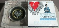 200 Years Since The Birth Of Florence Nightingale Proof Fine Silver Andpound2 Nhs Coin