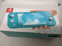 Nintendo Switch Lite Turquoise Teal Handheld Video Game Console