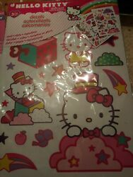 Sanrio Hello Kitty Peel amp; Stick Repositional Wall Decals 3 pages. New