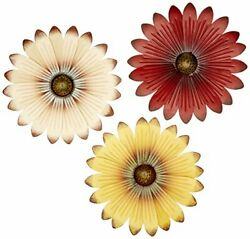 Set of 3 Wall Flowers