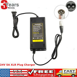 New 24v 5amp Auto Battery Charger For Electric Pride Mobility Wheelchair Scooter