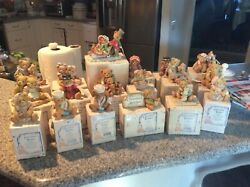 Lot Of 18 Enesco Cherished Teddies All With Original Boxes And Papers