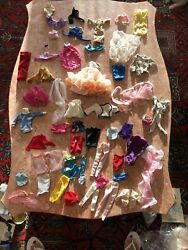 Huge Lot Of Vintage 60s And 70s Barbie And Ken Doll Clothes And Accessories