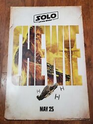 Solo A Star Wars Story Chewie 27x40 Double Sided Ds Theater Poster Chewbacca
