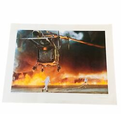 Military Poster Print Art Vtg Air Force Airplane Jet 22x17 That Others May Live