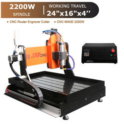 4-axis Cnc 6040e Router Engraver Engraving Drilling Machine Water Cooling 2.2kw