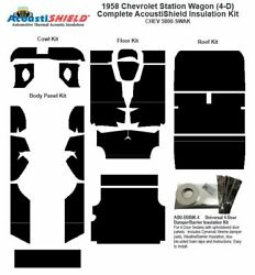 1958 Chevrolet 4 Door Station Wagon Complete Acoustic Insulation Kit