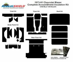 1973 - 1991 Chevy Blazer Complete Acoustic Insulation Kit