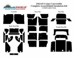 1964 1965 Comet Convertible Complete Acoustic Insulation Kit