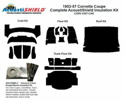 1953 - 1957 Chevy Corvette Coupe Complete Acoustic Insulation Kit