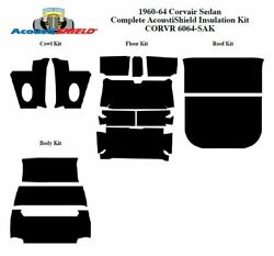 1960 - 1964 Chevy Corvair Sedan Complete Acoustic Insulation Kit