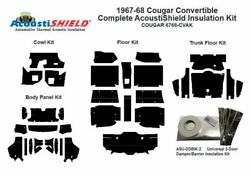 1967 - 1968 Cougar Convertible Complete Acoustic Insulation Kit