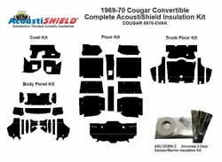 1969 1970 Cougar Convertible Complete Acoustic Insulation Kit