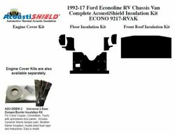 1992 - 1996 Econoline Cut Away Van [rv Chassis] Complete Acoustic Insulation Kit
