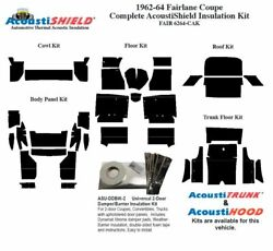 1962 - 1964 Fairlane And Torino Coupe Complete Acoustic Insulation Kit