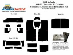 1968 - 1972 Chevy El Camino Complete Acoustic Insulation Kit