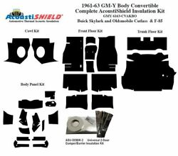 1961 - 1963 Skylark Cutlass And F85 Convertible Complete Acoustic Insulation Kit