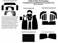 1949 - 1953 Mg Td Roadster Complete Acoustic Insulation Kit