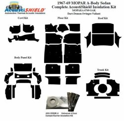 1967 - 1969 Mopar Dodge And Plymouth A Body Sedan Complete Acoustic Insulation Kit