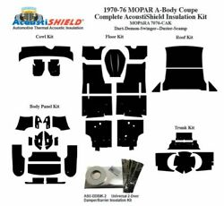 1970 - 1976 Mopar Dodge And Plymouth A Body Coupe Complete Acoustic Insulation Kit