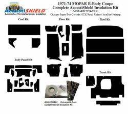 1971 - 1974 Mopar Dodge And Plymouth B Body Coupe Complete Acoustic Insulation Kit
