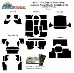 1975 - 1977 Mopar Dodge And Plymouth B Body Sedan Complete Acoustic Insulation Kit