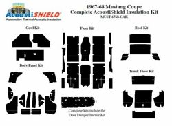 1967 1968 Ford Mustang Coupe Complete Acoustic Insulation Kit