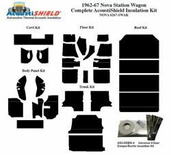 1962 - 1967 Chevy Nova Station Wagon Complete Acoustic Insulation Kit