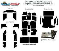 1952 - 1953 Oldsmobile 88 And 98 Convert Complete Acoustic Insulation Kit
