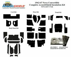 1962 - 1967 Chevy Nova Convertible Complete Acoustic Insulation Kit
