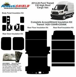 2014 - 2020 Ford Transit 130 Wb High Roof Cargo Van Complete Insulation Kit