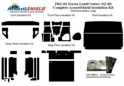 1961 - 1984 Toyota Land Cruiser Complete Acoustic Insulation Kit