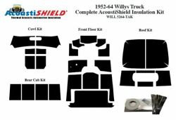 1952 - 1964 Willys Station Wagon Complete Acoustic Insulation Kit