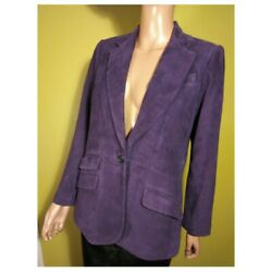 Lrl Real Suede 10 L Leather Jacket Blazer Coat Genuine Authentic