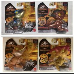 🎉 Jurassic World Snap Squad Mini Dinosaur Camp Cretaceous Wave 7 Complete 4 Pcs $41.99