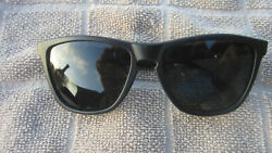 Original Classic Oakley Frogskin Sunglasses Black Frames Black Polarized Lenses $49.99