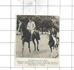 1920 Miss Mary Putnam Riding In The Row Hyde Park On Beauty