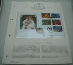 1998 Great Britain Christmas 1998, Isle Of Man Proof 50p Coin/stamps/pnc/info