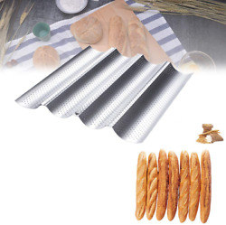 French Baguette Pan Non Stick Coated Pan Perforated French Bread Baking Tray Por $24.99