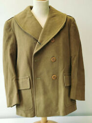 U.s. 1942 Dated Jeep Coat Missing Belt And Some Buttons Overall Good Conditio
